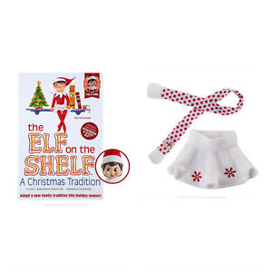 The Elf on the Shelf Tradition Blue Eyed Girl  Bundle with Snowflake Skirt