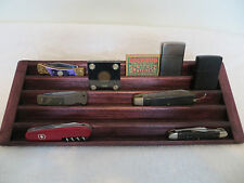 Knife, Case Knives, Matchbox, Lighter 5 Tier Stadium Wood Display-Cherry Stained