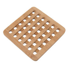 Hollow Anti-Slip Bamboo Insulation Kitchen Placemat Pad Dining Table Mat Decor