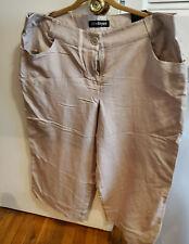 Lane Bryant Women's Size 18 Totally Cropped Tan Linen Rayon Pants NWT