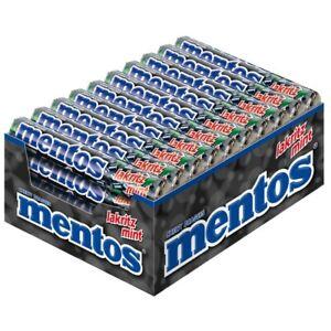 (9,29€/1kg) Mentos Lakritz-Mint Rolle, Kau-Bonbon, Dragee, 40 Stück