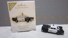 """2009 Hallmark QXE3015 """" Police Cruiser """" RARE Ornament"""