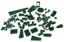 LEGO Dark Green Parts Bricks Mixed Bulk Lot 48 Pieces Plates GOOD VARIETY