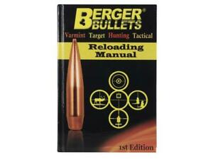 Berger RELOADING MANUAL 1st Edition #11111 -NEW-