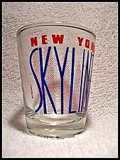Shot Glass New York Skyline Manhattan Island Hudson East River Towers NY  New 05