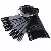 False Full Nail Tips Black Color Polish UV Gel Stickers Display  Tools