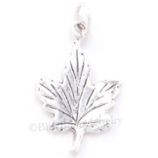 MAPLE LEAF 925 Sterling Silver Thanksgiving Fall AUTUMN Pendant Charm