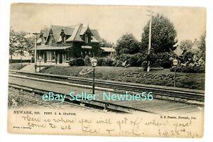 Newark Delaware DE - PENNSYLVANIA RAILROAD STATION - Postcard Penn/PRR