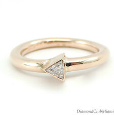 Modern Trillion Cut Solitaire Diamond 18kt Gold  Engagement  Ring 3.9 Grams