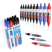 VIZ-PRO 10 Pcs/Pack Marker Pen Chisel Tip Dry Erase Markers 3 Colored Markers