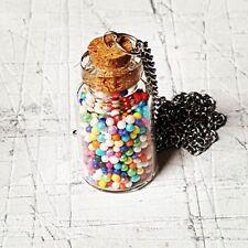 Unique GUMBALL JAR NECKLACE cute GLASS JAR food BUBBLEGUM jewellery MINIATURE