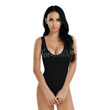 Women Lingerie Mesh See-through High Cut Bikini Thong Bodysuit Swimwear Leotard