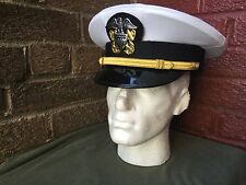 WW2 US Navy officers white visor cap,  size 58