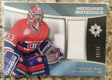 2015-16 Ultimate Patrick Roy Patch /35 Honoured Materials Upper Deck 15-16