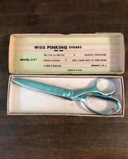 Wiss Model C Pinking Shears CC7 C7 Chrome Plate Vintage