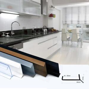 1,5-12m KÜCHENSOCKEL Sockeldichtung Sockel 16-18mm Dichtprofil Schutz Küche TOP