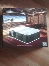 Hammond HV-1000 Projector 4k 3D 4500 Lumens LED NEW HDMI DVD HD BLUE-RAY HDTV