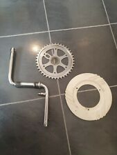 Raleigh BMX Burner, White Mag  Chain Guard & Chain Ring & Crank Old School Bike