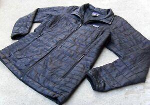 Patagonia Primaloft Nano Puff Jacket Women's size XL Black zip up