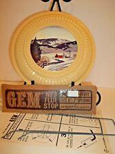 """Nos J.L. Clark Gem No.3 Flue Stopper Ivory Cover Fits 6"""" - 7"""" Chimney Opening"""