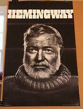 Earnest Hemingway Vintage Original 1960's Poster Yousuf Karsh Iconic Photo