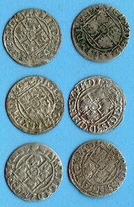 LOT OF 6 Poland Sigismund III 1/24 Taler 1620-1625s 136