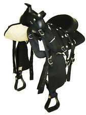 "'THSL'  WESTERN HORSE SYNTHETIC SADDLE PKG 15"" BLACK (1012BL) * NEW *"