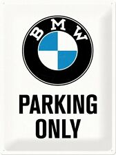 Nostalgic-Art - BMW Parking Only Blechpostkarte 10x14 Cm