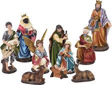 Weihnachtskrippe Figuren XXL - 10 Teile - Krippenzubehör Krippe Figur handbemalt