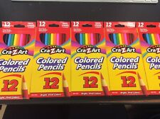 New listing 5x Cra-Z-Art 12 Count Bright Vivid Colored Real Wood Sharpened Pencils 60 total