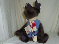 Gustaf Mooseltoff Moose 2002 Boyds Bears in fleece vest and scarf 904026
