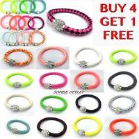 Diamante Leather Magnetic Bracelet Type Crystal Elements Shambala Wrist Band B4