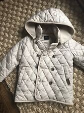 Twin Kids Beige Girls Quilted Jacket Coat 110 4T
