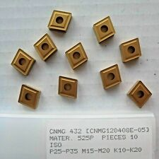 10 Pcs CNMG 432 Carbide Inserts New Gold Turning Lathe Made by PRAMET SECO
