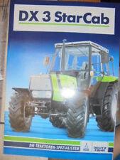 Prospekt Sales Brochure Deutz Fahr DX 3 Star Cab Traktor Technische Daten Agrar