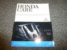2004 Honda Civic Coupe Owner Owner's Manual User Guide HX LX EX DX SE Si