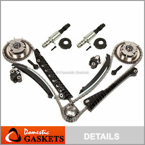 04-08 Ford F150 F250 Lincoln 5.4L Triton 3V Timing Chain Kit+Cam Phaser+Solenoid