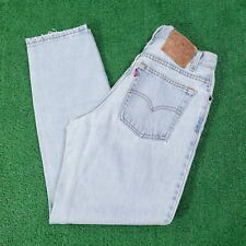VINTAGE LEVIS 550 RELAXED FIT TAPERED USA MADE LIGHT WASH JEANS WOMENS 8 (28X28)