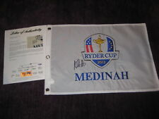 BUBBA WATSON (PGA) Signed 2012 RYDER CUP Embroidered Flag with PSA LOA