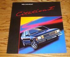 Original 1985 Chevrolet Citation II Sales Brochure 85 Chevy