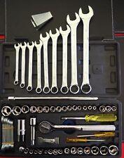 40 piece socket set SAE & METRIC + 9 piece Spanners - DIY Tool Kit