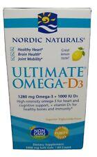 Nordic Naturals Ultimate Omega-D3, 1280mg, Lemon 60 Softgels Exp 12/20