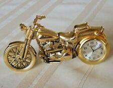 Vintage Biker Collectible Harley Davidson Style Motorcycle Desk Miniature Clock