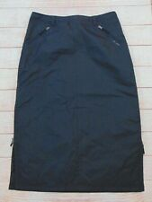 Skhoop Women's Size 2XL Black Skirt Parka Down Polyester Long Side Zips Sweeden