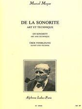 Moyse M de la sonorite Art et Technique Flûte Traversière Film Flute Music Book