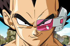Dragon Ball Z Poster Vegeta with Scouter 12inches x 18inches Free Shipping