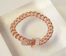 London Rose Gold Colour Chain Bracelet Gem Buckle Jewellery BM039
