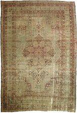"Distressed antique Persian Kerman Lavar. 8'7""x 12'7"""