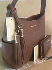 MICHAEL KORS ASHBURY LARGE SLOUCHY LEATHER Shoulder Bag & WALLET- Brown NWT