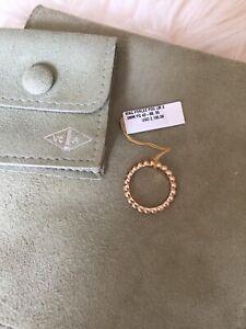 Auth Van Cleef & Arpels Perlee Large Ring 750(18K) Size 55 / Rose Gold